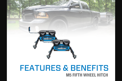 Features & Benefits: REESE® M5 Fifth Wheel Hitch for GMC & Chevrolet 2500 & 3500 HD Pick-Up Trucks with a Factory Installed OE Below-Bed Mounting System